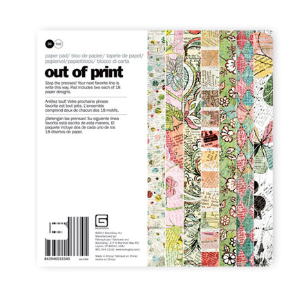 BasicGrey - Out of Print Collection - 6 x 6 Paper Pad