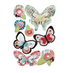BasicGrey - Out of Print Collection - Pops - 3 Dimensional Cardstock Stickers