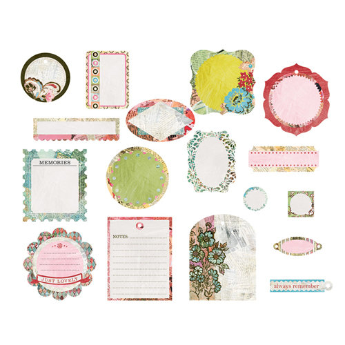 BasicGrey - Out of Print Collection - Die Cut Cardstock Pieces