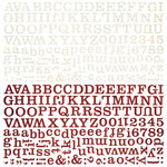 BasicGrey - Oxford Collection - 12 x 12 Alphabet Stickers