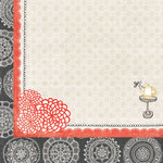 BasicGrey - Paper Cottage Collection - 12 x 12 Double Sided Paper - Hibiscus Tea