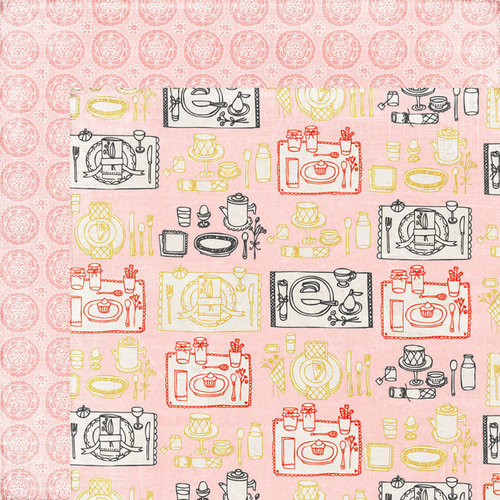 BasicGrey - Paper Cottage Collection - 12 x 12 Double Sided Paper - Breakfast in Bed