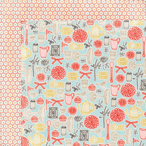 BasicGrey - Paper Cottage Collection - 12 x 12 Double Sided Paper - Domestic