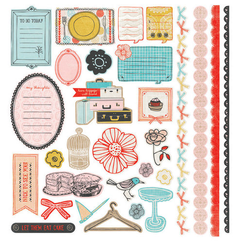 BasicGrey - Paper Cottage Collection - 12 x 12 Element Stickers - Shapes