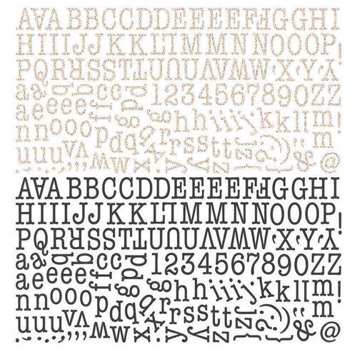 BasicGrey - Paper Cottage Collection - 12 x 12 Alphabet Stickers