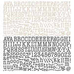 BasicGrey - Paper Cottage Collection - 12 x 12 Alphabet Stickers