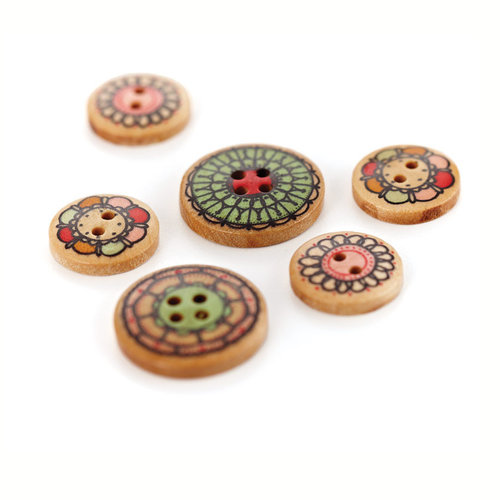 BasicGrey - Paper Cottage Collection - Wooden Buttons