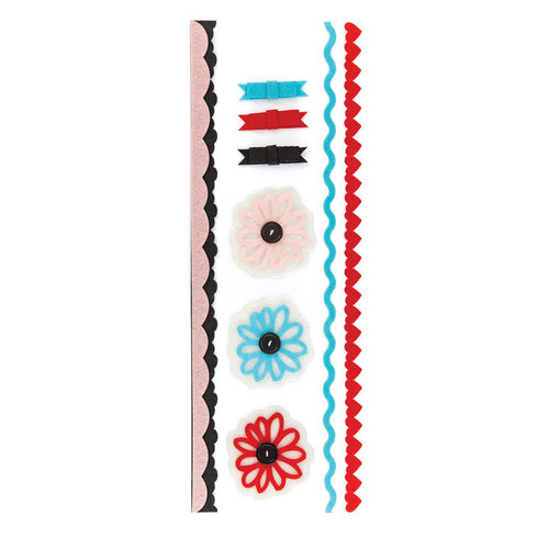 BasicGrey - Paper Cottage Collection - Felt Stickers and Trims