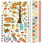 BasicGrey - PBandJ Collection - 12 x 12 Element Stickers - Shapes