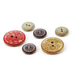 BasicGrey - PBandJ Collection - Wooden Buttons