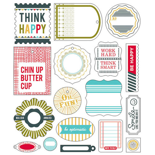 BasicGrey - PBandJ Collection - Die Cut Cardstock Pieces - Shapes