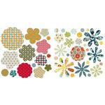 BasicGrey - PBandJ Collection - Die Cut Canvas and Cardstock Pieces - Flowers
