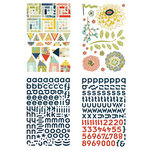 BasicGrey - PBandJ Collection - Adhesive Chipboard - Shapes and Alphabets