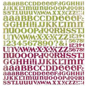 BasicGrey - Letter Stickers - Perhaps, CLEARANCE