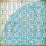 BasicGrey - Picadilly Collection - 12 x 12 Double Sided Paper - Blue Plate Special