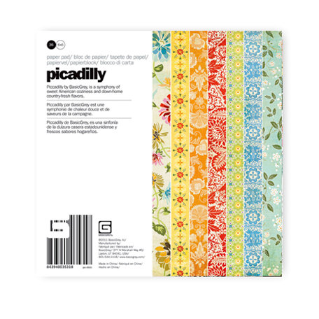 BasicGrey - Picadilly Collection - 6 x 6 Paper Pad