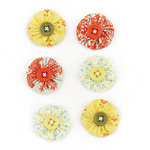 BasicGrey - Picadilly Collection - Fabric Stickers - Circle