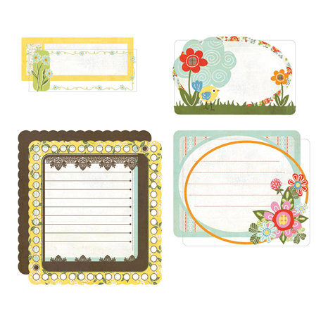 BasicGrey - Picadilly Collection - Take Note Journaling Cards with Transparencies