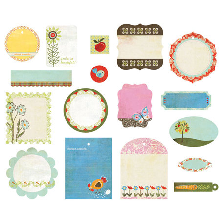 BasicGrey - Picadilly Collection - Die Cut Cardstock Pieces - Shapes
