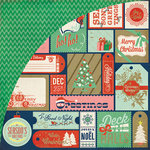 BasicGrey - 25th and Pine Collection - Christmas - 12 x 12 Double Sided Paper - Santa Highway