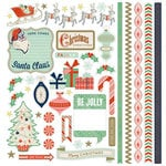 BasicGrey - 25th and Pine Collection - Christmas - 12 x 12 Element Stickers