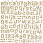 BasicGrey - 25th and Pine Collection - Christmas - 12 x 12 Alphabet Stickers
