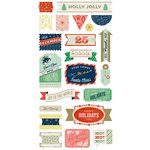 BasicGrey - 25th and Pine Collection - Christmas - Title Stickers