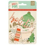 BasicGrey - 25th and Pine Collection - Christmas - Printed Wood Veneer Shapes