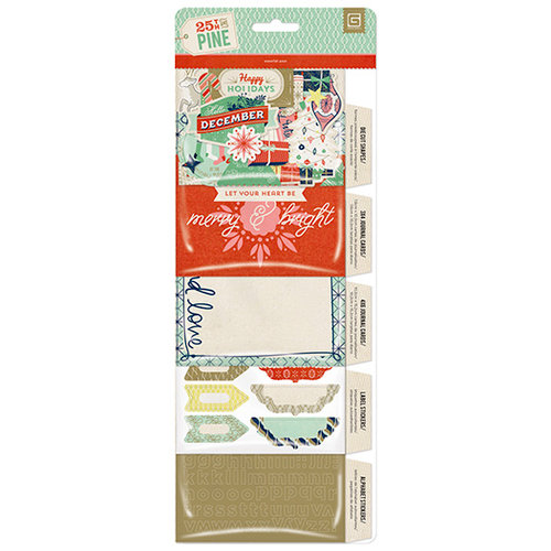 BasicGrey - 25th and Pine Collection - Christmas - Waterfall Theme Embellishment Pack