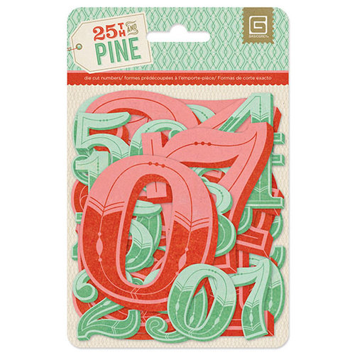 BasicGrey - 25th and Pine Collection - Christmas - Jumbo Die Cut Numbers