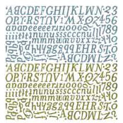 BasicGrey - Letter Stickers - Periphery - Sugar