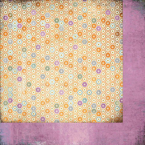 BasicGrey - Plumeria Collection - 12 x 12 Double Sided Paper - Moonstone
