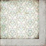 BasicGrey - Plumeria Collection - 12 x 12 Double Sided Paper - Silver Springs