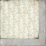 BasicGrey - Plumeria Collection - 12 x 12 Double Sided Paper - Graceful Vine