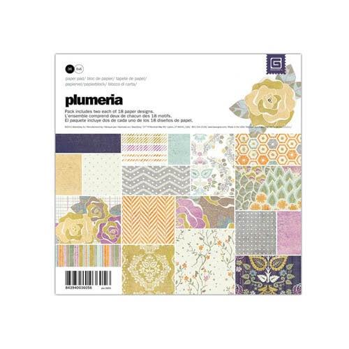 BasicGrey - Plumeria Collection - 6 x 6 Paper Pad