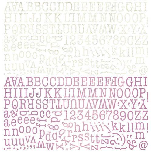 BasicGrey - Plumeria Collection - 12 x 12 Alphabet Stickers