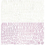 BasicGrey - Plumeria Collection - 12 x 12 Alphabet Stickers