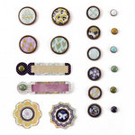 BasicGrey - Plumeria Collection - Mixed Brads