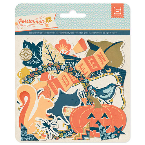 BasicGrey - Persimmon Collection - Chipboard Stickers - Shapes
