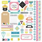 BasicGrey - Prism Collection - 12 x 12 Cardstock Stickers - Elements