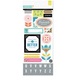 BasicGrey - Prism Collection - Printed Chipboard Stickers - Shapes
