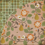 BasicGrey - Pyrus Collection - 12 x 12 Double Sided Paper - Pear Pie, CLEARANCE
