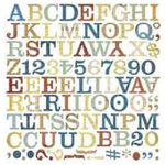 BasicGrey - Mini Monograms Die-Cuts - Recess - Middleset, CLEARANCE