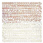 BasicGrey - Letter Stickers - Recess - Nanoset, CLEARANCE