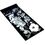 BasicGrey - Sultry Collection - Rub-Ons - Hibiscus Border - White, CLEARANCE