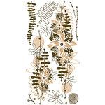 BasicGrey - Granola Collection - Rub Ons - Eucalyptus - Khaki