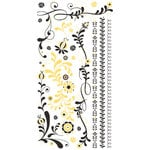 BasicGrey - Urban Prairie Collection - Rub Ons - Whirlygig - Yellow and Black