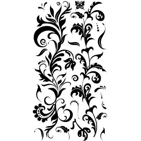 Basic Grey - Ambrosia Collection - Rub Ons - Amber - Black