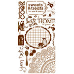 BasicGrey - Nook and Pantry Collection - Rub Ons - What's Cookin' - Brown, CLEARANCE