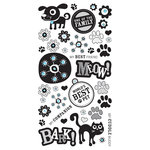 BasicGrey - Max and Whiskers Collection - Rub Ons and Rhinestones - Black, CLEARANCE